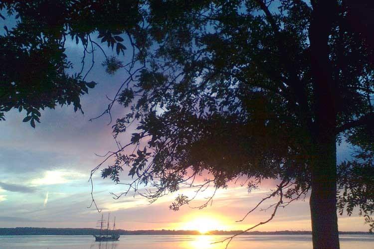 Solnedgang på Bjørnø