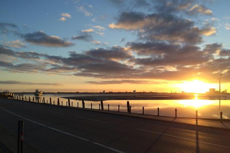 Morgenstund ved færgehavnen.JPG